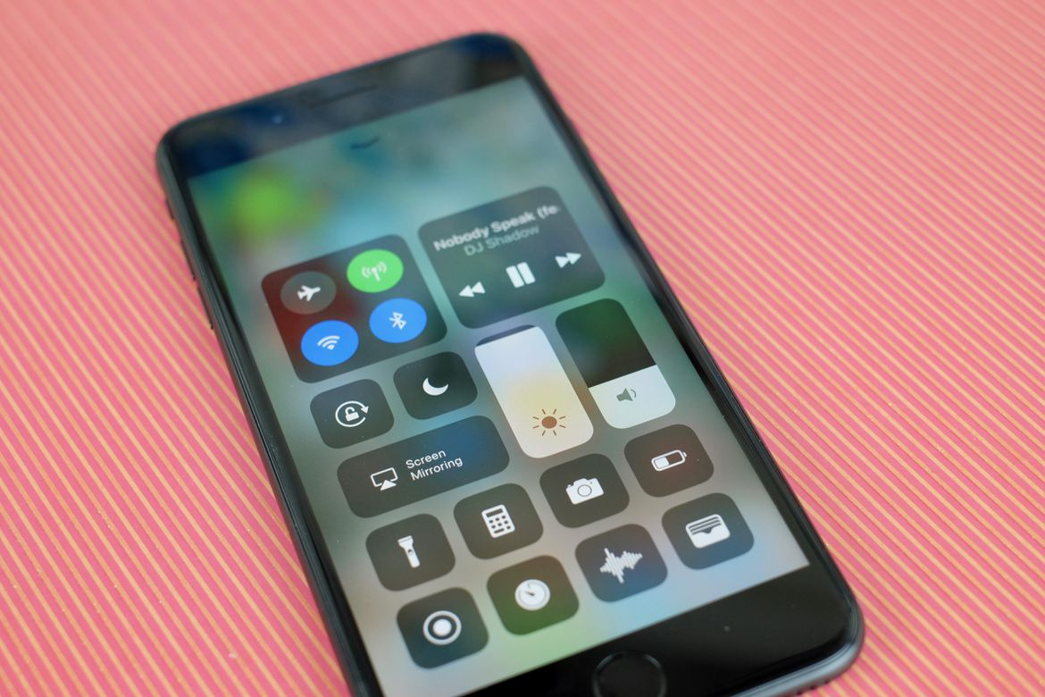 iOS 11's Control Center is simplified