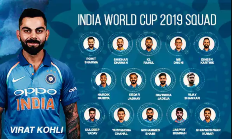 India World Cup Squad 2019 Announced : Rishabh Pant Misses Out