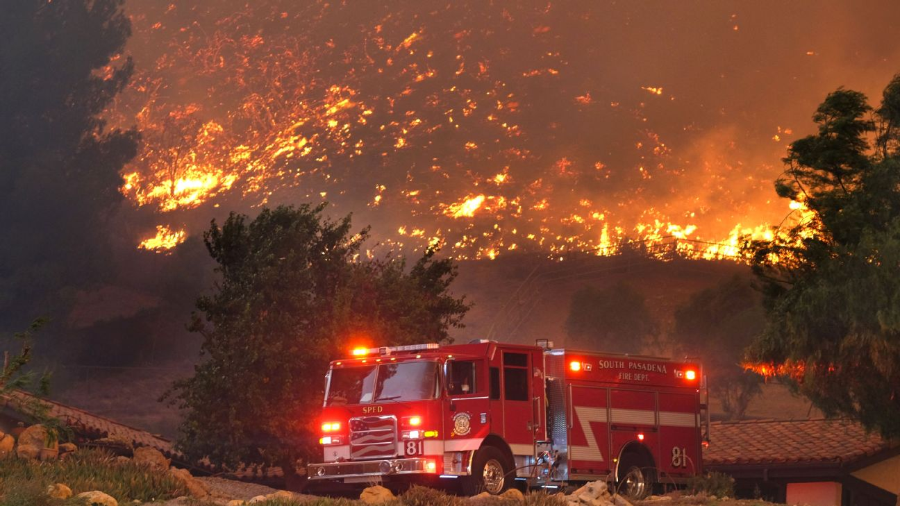 California fire of wine country quadruples in size