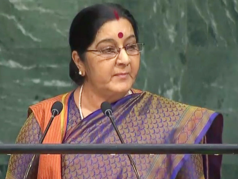 Sushma Swaraj Strong and Sharp Attack on Pakistan