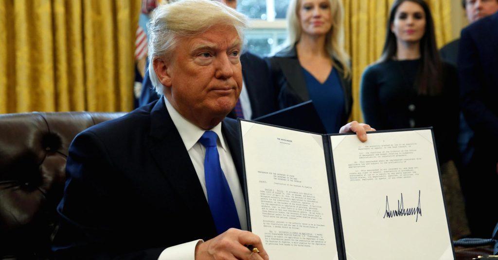 Donald Trump signed executive order