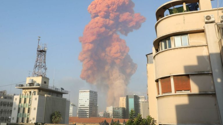Beirut Explosion : A Red Cloud of Smoke